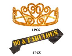 Supplies and Decorations Favors Black Satin /& Gold Tiara Birthday Sash for Women /& Girls with Tiara,21st 30th 18th 50th 29th 20th 26th Birthday Sash Set Party Favors