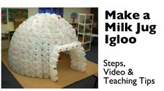 You can easily build an milk jug igloo in your classroom with some planning, lots of milk jugs, and plenty of hot glue. Instructions plus ideas for integrating math, science, and history.