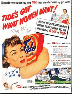 Gender roles in 1950's defined through Ads