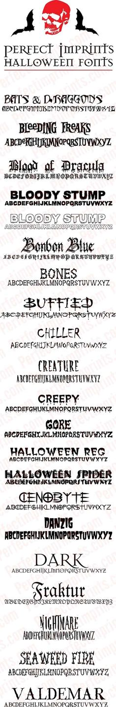 Halloween Fonts by lucile