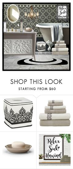"""""""RELAX"""" by pinkinkbydesign ❤ liked on Polyvore featuring interior, interiors, interior design, home, home decor, interior decorating, Labrazel and bathroom"""