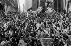 From a distance, Market Street appeared to be under siege, like the final act of a zombie movie.  The Super Bowl XVI parade on Jan. 25, 1982, combined sporting renaissance with civic negligence, for one of the most memorable celebrations in San Francisco history.  The last time a group of citizens mobilized in such large numbers along Market Street was on V-J Day, marking the end of World War II in 1945.  When the Warriors won an NBA championship a few years earlier, a crowd of about 6,000…