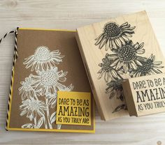 We love the look of white embossing powder.