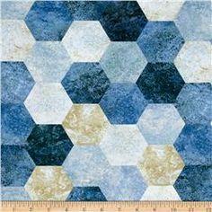 Contempo Twilight Hexagons Blue