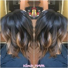 short black hair balayage - Google Search