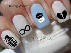 The Fault In Our Stars Nail Decals by ThirstyWillow on Etsy, $3.99