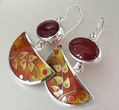 Cloissone Earrings for Winnie by agoraart on Etsy