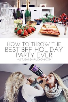 BFF HOLIDAY GOALS: Taking y'all inside my holiday party with my bestie ( cheese, wine, chocolate, girl time.... ya know, the best things in life ) | www.hustleandhalcyon.com