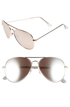 BP. Mirrored Aviator 57mm Sunglasses available at #Nordstrom