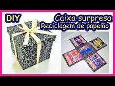 Caixa surpresa - reciclagem com papelão - YouTube