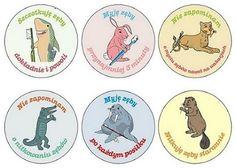 Zestaw naklejek, które w zrozumiały sposób tłumaczą dziecku zasady higieny jamy ustnej