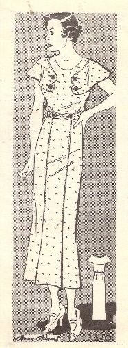 1930s sewing pattern... just can't pass up these old fashioned ones.