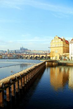 travelthisworld:  Prague on a Cold Winter's day Prague, Czech Republic | by mandalaybus