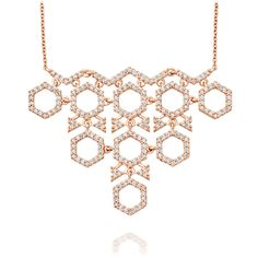 Honeycomb Necklace | 14ct Rose Gold | Astley Clarke