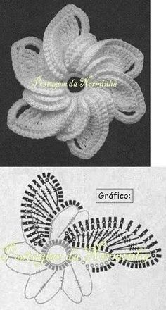 beautiful crochet rose You are in the right place about crochet patterns Here we offer you the most Crochet Diagram, Freeform Crochet, Crochet Chart, Crochet Motif, Crochet Doilies, Crochet Lace, Crochet Stitches, Irish Crochet, Crochet Books