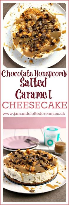 Chocolate Honeycomb Salted Caramel Cheesecake