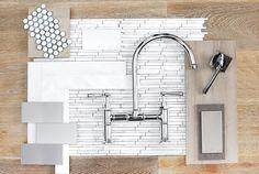 Twin Gable | Barn & Vine Bridgehampton -- tile, cabinets, faucet, pulls, knobs, backsplash