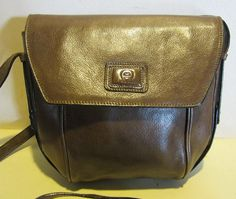 Lovely vintage Etienne Aigner leather cross over bag, with very long strap; near mint,
