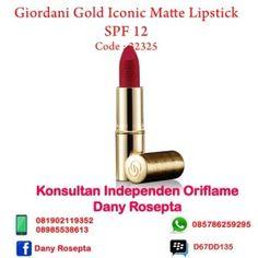 Lipstik Matte Oriflame Giordani Gold Iconic Matte Lipstick SPF 20 Lipstik Matte – Lipstik jenis ini tentu sahabat cantik-ku lebih kenal dan untuk liptik ini merupakan lipstik yang banyak dicari ole…