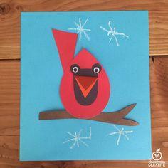 free cardinal craft activity and template preschoolartprojects Bird Crafts Preschool, Preschool Art Projects, Classroom Art Projects, Daycare Crafts, Preschool Christmas, Craft Activities, Winter Crafts For Kids, Paper Crafts For Kids, Art For Kids