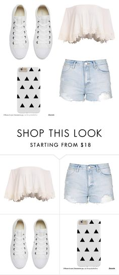 """""""Untitled #19"""" by dumy-stela ❤ liked on Polyvore featuring Topshop and Converse"""