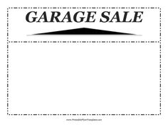 This Printable Flyer Can Be Customized With Information About A Garage Sale  And Posted On Telephone Poles (where Allowed) And On Bulletin Bo.  Pull Tab Flyer Template