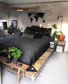 Master Bedroom Decorating Ideas Modern Bedroom Sets Home Modern Bedroom Design, Home Room Design, Home Interior Design, House Design, Contemporary Bedroom, Bedroom Designs, Modern Contemporary, Industrial Bedroom Design, Ikea Interior