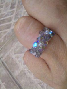 Swarovski Princess ring by nalita on Etsy, $15.00 nalita.etsy.com