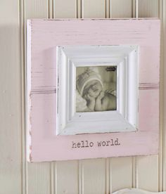 Mud Pie Hello World Pink Baby Frame at The Paper Store Baby Picture Frames, Baby Frame, Clip Frame, Paper Store, Heart Frame, World Pictures, World Photo, Christmas Crafts For Kids, Pink Gifts