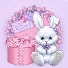Joyeuses Pâques - Lapin blanc