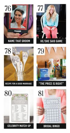 25 Most Amazing Bridal Shower Games