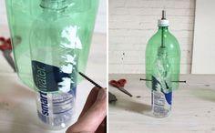 Tutorial lámpara de cemento DIY reciclaje botellas