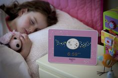 Smart kids' clock shows them when it's okay to come get you. Heh.