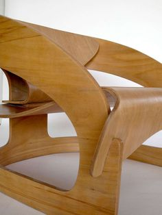 Plywood 4801 lounge chair by Joe Colombo for Kartell image 10