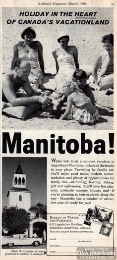 Holiday in Canada's vacationland: Manitoba (1960).  bwaaaaa hahahha  now that's funny!