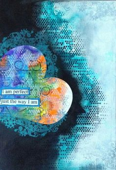Nika Rouss - art journal page -  Perfect; I love that she does a video of most art she makes!!