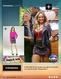 """Saia da Puramania é destaque no figurino da novela """"Sangue Bom""""."""