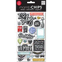 Me & My Big Ideas Chipboard Value Pack-Chalk-Coloured Amazing