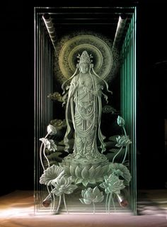 HIDEYUKI KUBONOKI | Glass Sandblasting Artist | Gallery2 Glass Etching, Etched Glass, Fused Glass, Glass Beads, Pooja Room Door Design, Sandblasted Glass, Glass Engraving, Crystal Glassware, Glass Design