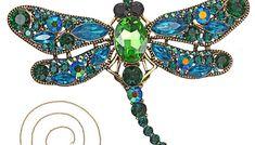 Brosa pentru femei, stil retro, sub forma de libelula, bijuterie pentru haine