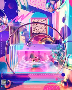 Prateek Vatash is a graphic artist based in Bangalore, India. He shared on his Behance, an illustration series entitled: Space Escape. Sneakers Art, Pompe A Essence, Space Grunge, Neon Room, Neon Aesthetic, Aesthetic Space, Aesthetic Design, Retro Futuristic, Illustration