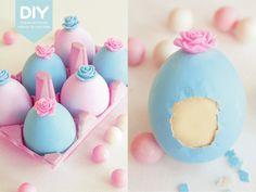 EasyChic: DIY: Como hacer huevos de Pascua decorados y rellenos de chocolate.