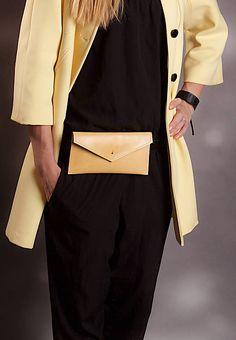 SASH.leather / LEATHER BELT BAG YELLOW one 2017