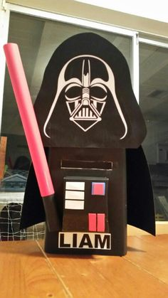 Super Cute And Funny Valentine   LEGO Star Wars Darth Vader Valentine Box |  Valentineu0027s Day | Pinterest | Valentine Box, Darth Vader And Valentines