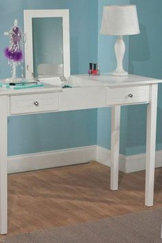 White Audrey Vanity Desk by Target Marketing Systems on