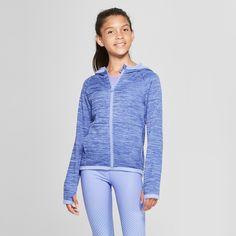 8a56010f4 Girls' Cozy Tech Fleece Sweatshirt - C9 Champion® Blue Spacedye XS ...