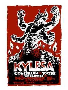 Dwitt's posters are always gorgeous - GigPosters.com - Kylesa - Coliseum - Torche - Wrath