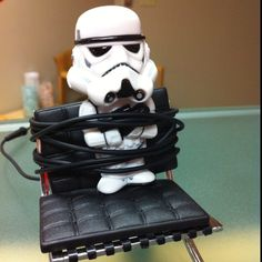 Storm Trooper on a chair