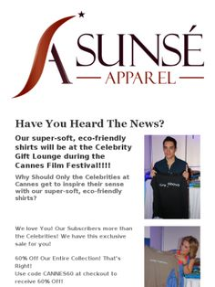 Celebs at Cannes Film Festival LOVE these shirts! Snatch up yours during our biggest Sale Ever!