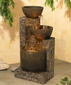 Fontana da giardino in pietra ricostruita mod azalea - Fontane zen da interno ...